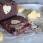 Plumcake al cacao con cuore al caffè
