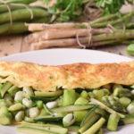 Omelette con verdurine di stagione