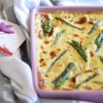 Lasagne con asparagi e besciamella allo zafferano